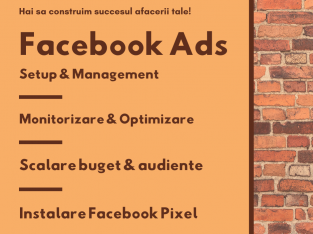 Promovare & Marketing: Facebook Ads + Administrare